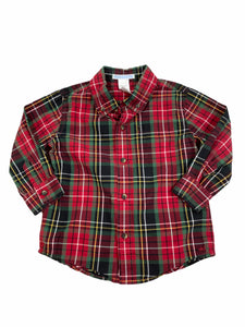 Janie & Jack Red Plaid Button-Down (18/24M Boys)