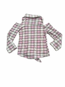 Star Ride Pink Plaid Unicorn Top (5/6 Girls)