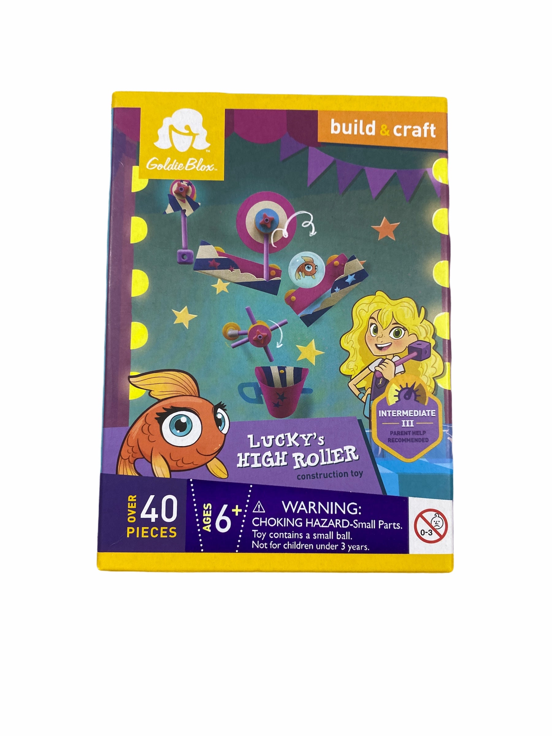 Goldie Blox Lucky's High Roller Building & Craft Set