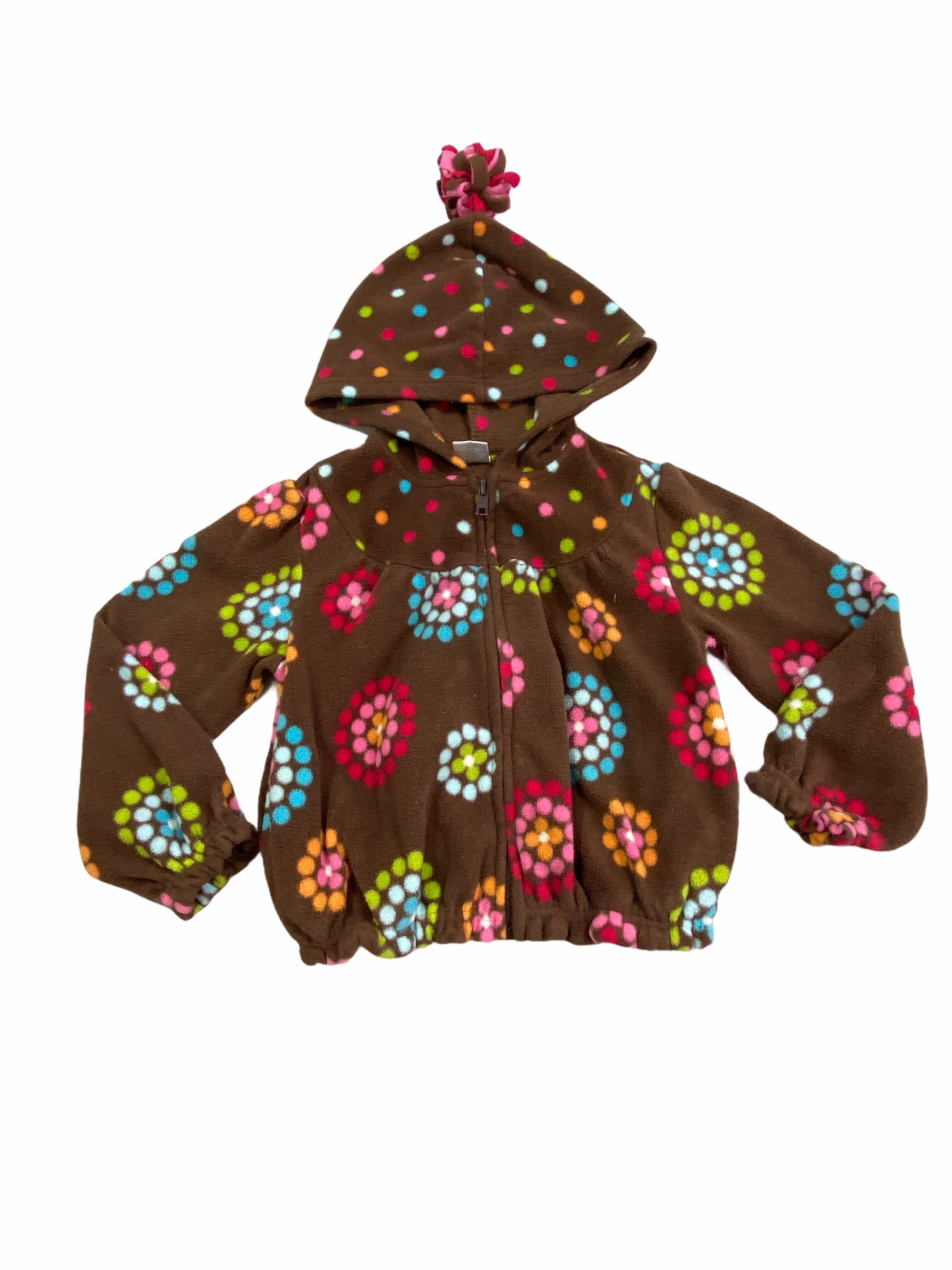 Gymboree Brown Hooded Fleece Sweatshirt Zip (4/5T Girls)