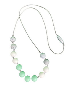 Chew Beads Green & Gray Necklace