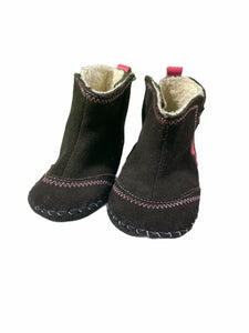 Pediped Leather Sole Brown Heart Boots (Size 4/5)