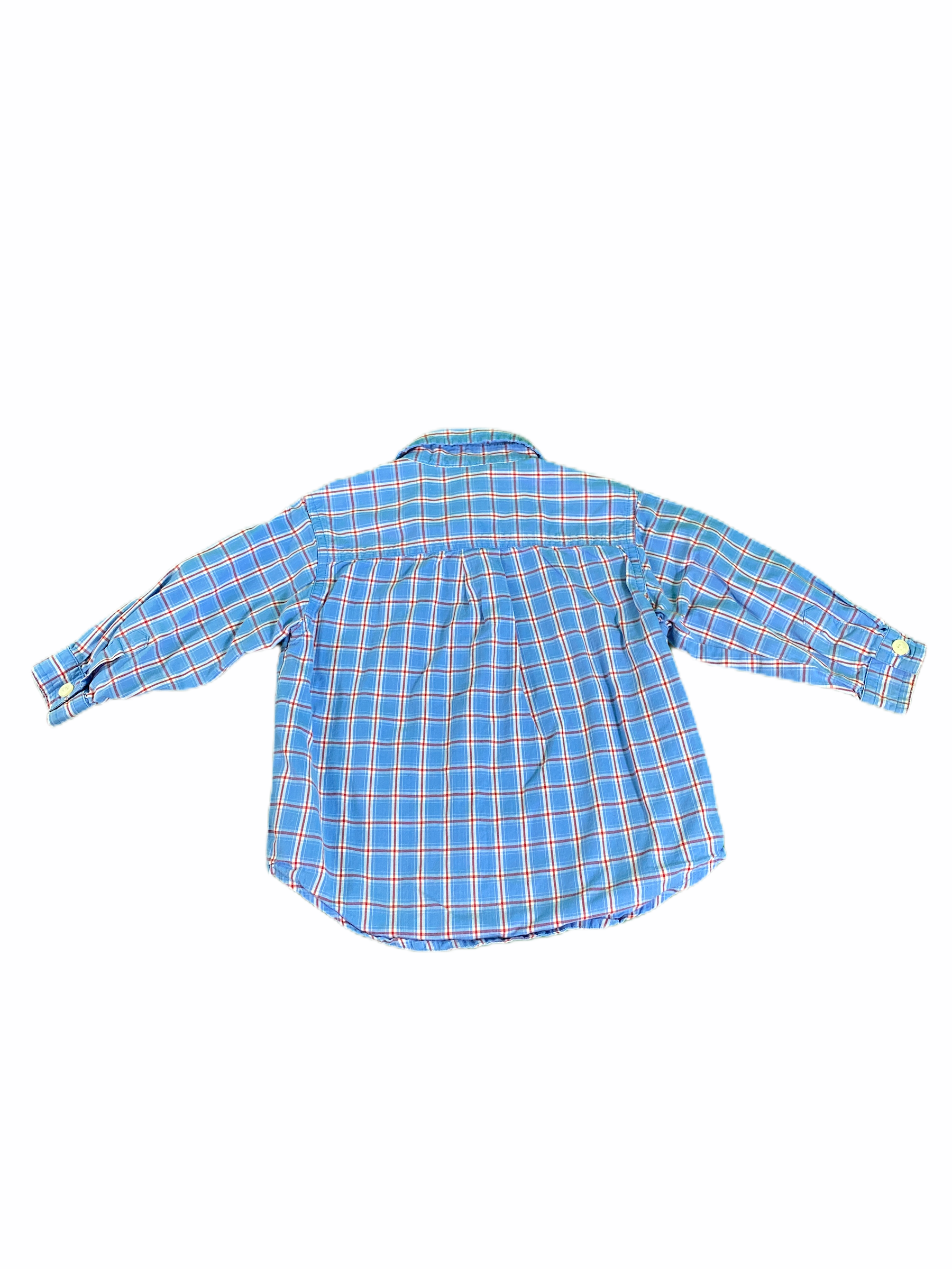 Old Navy Long Sleeve Blue & Green Gingham Button Down (12/18M Boys)