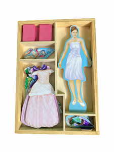 Melissa & Doug Magnetic Doll Set