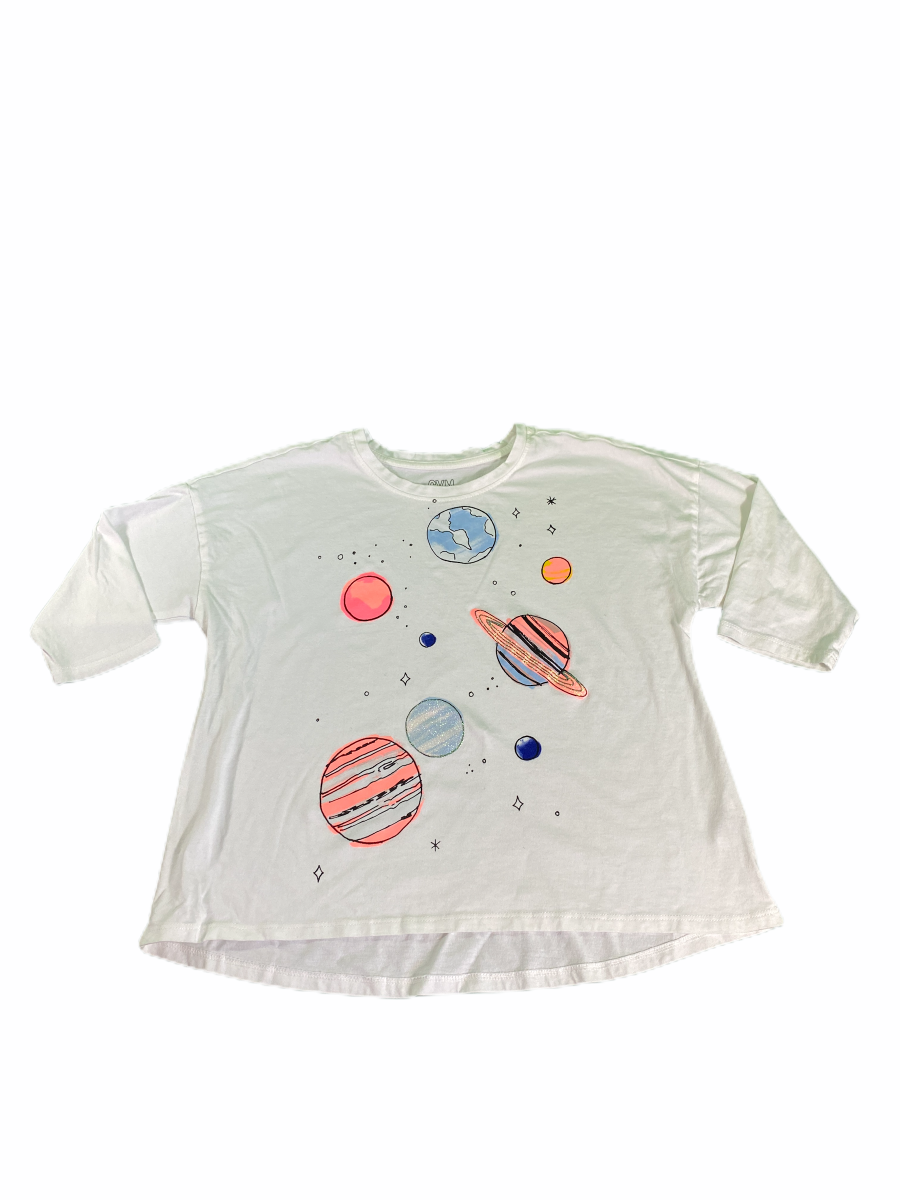 Gymboree 3/4 Sleeve Space Tee (7/8 Girls)