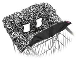 Infantino Black & white Damask Shopping Cart Cover