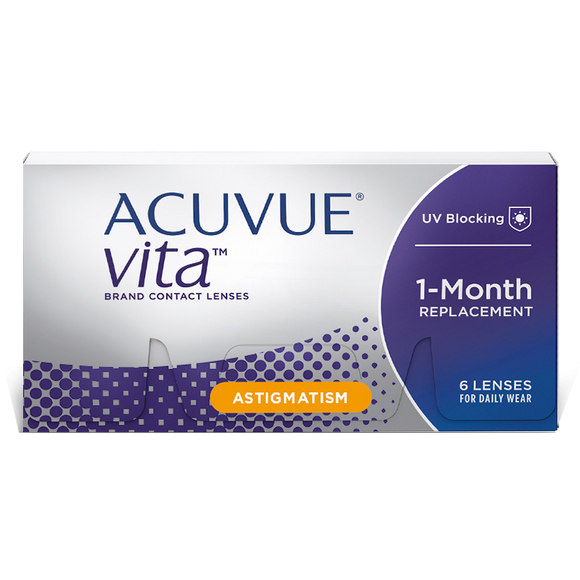 ACUVUE VITA - TORIC - with Hydramax - MONTHLY -6pk