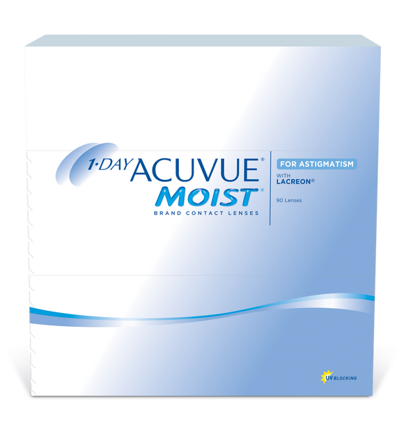 ACUVUE MOIST - 1 DAY - ASTIGMATISM  - 90pk