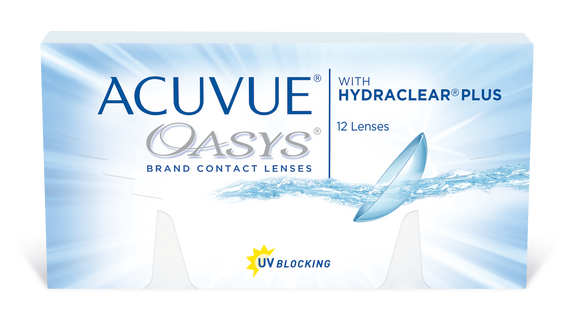 ACUVUE OASYS - with Hydraclear Plus - 2 WK -12 pk