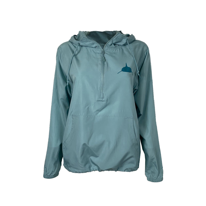 Women's Lightweight Windbreaker Jacket in Aqua