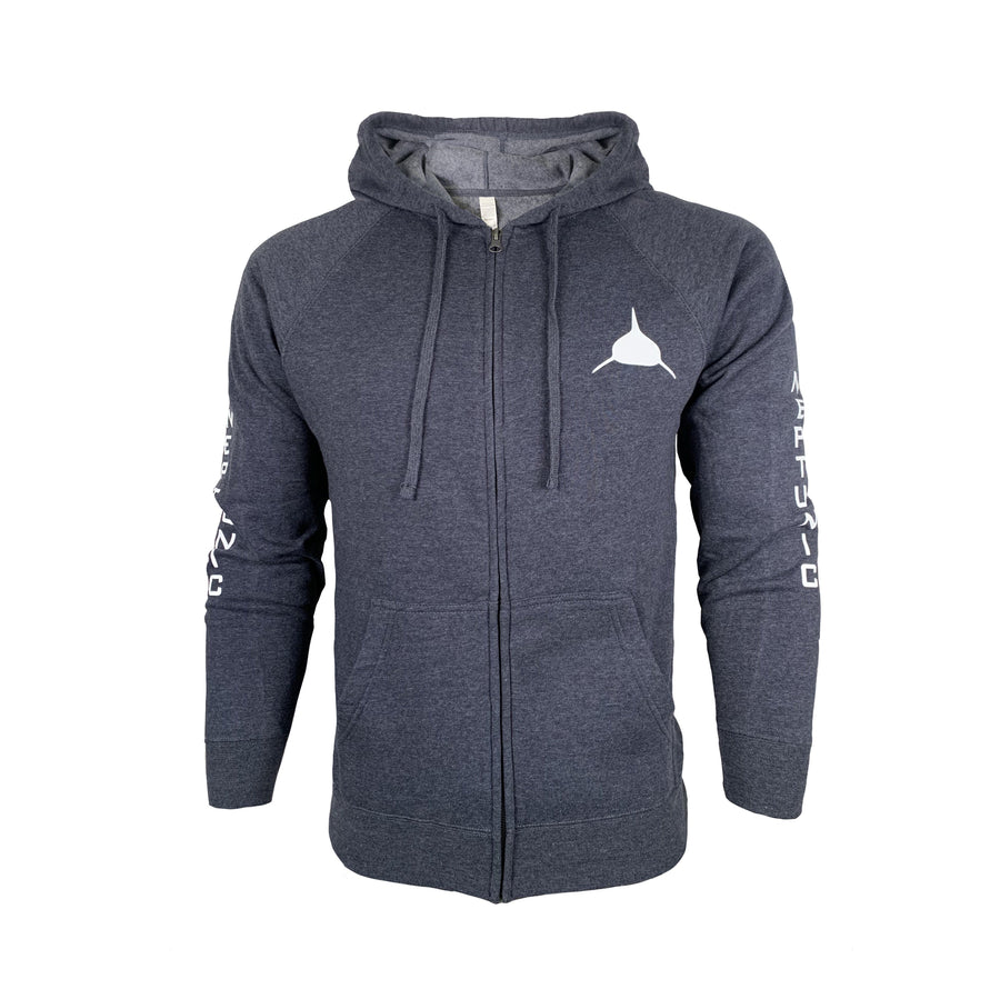Unisex Neptunic Midnight Blue Zip-up Hoodie
