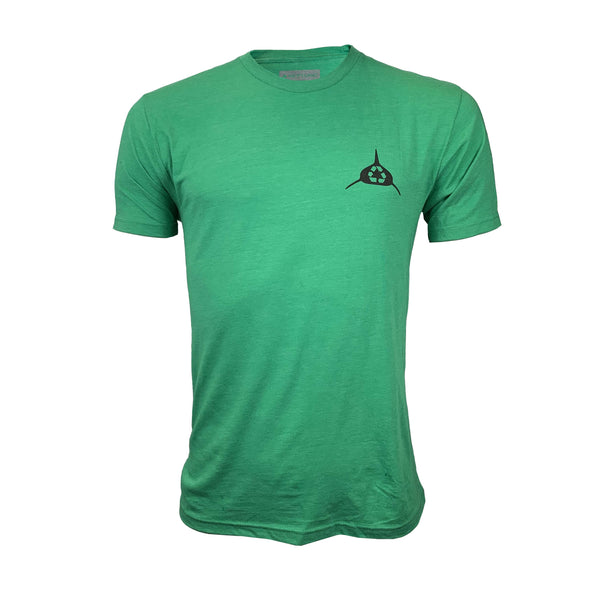 "Men's Neptunic ""Limited Edition Recycle Green"" Ocean Conservation Tee."