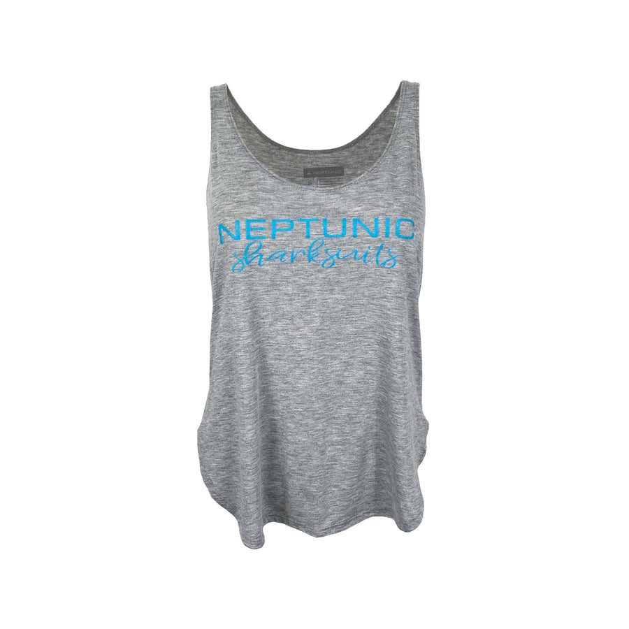 Women's Sharksuit Festival Tank in Heather Grey