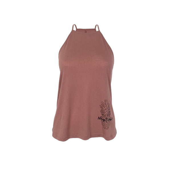 Women's Pineapple Flowy Tank in Mauve