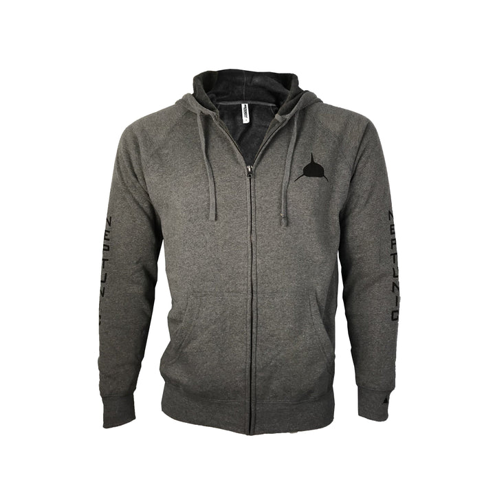 Unisex Neptunic Grey Zip-up Hoodie