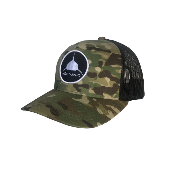 Camo Circle Patch Hat