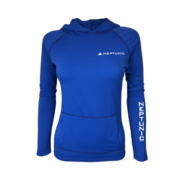 Women's Lycra Hoodie in Royal