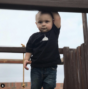 Toddler Tee in Black