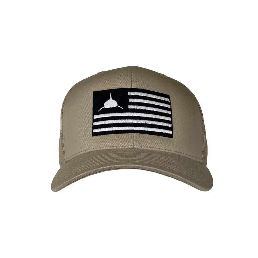 Sharks & Stripes Hat in Sand