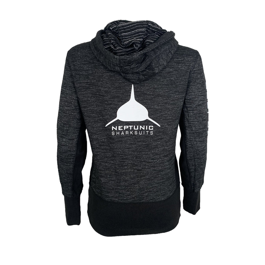 Women's Zip Hoodie Heather Black