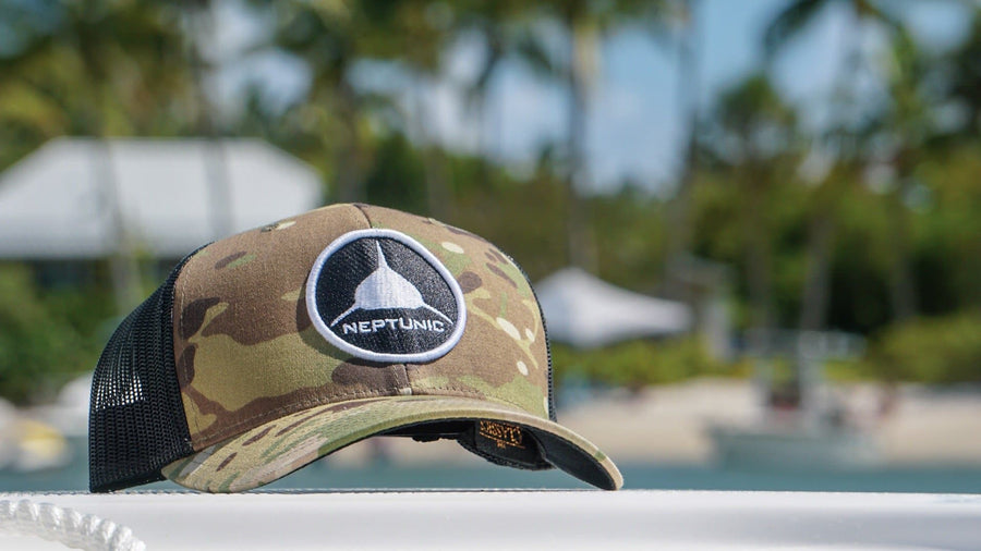 Circle Patch Camo Hat