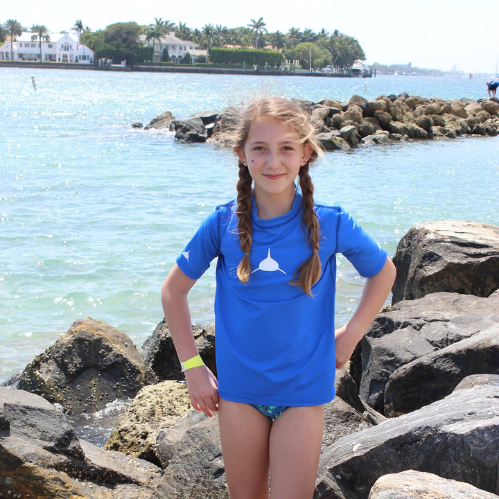 Youth Short Sleeve Lycra in Royal