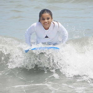 Youth Long Sleeve Lycra Rashguard in White