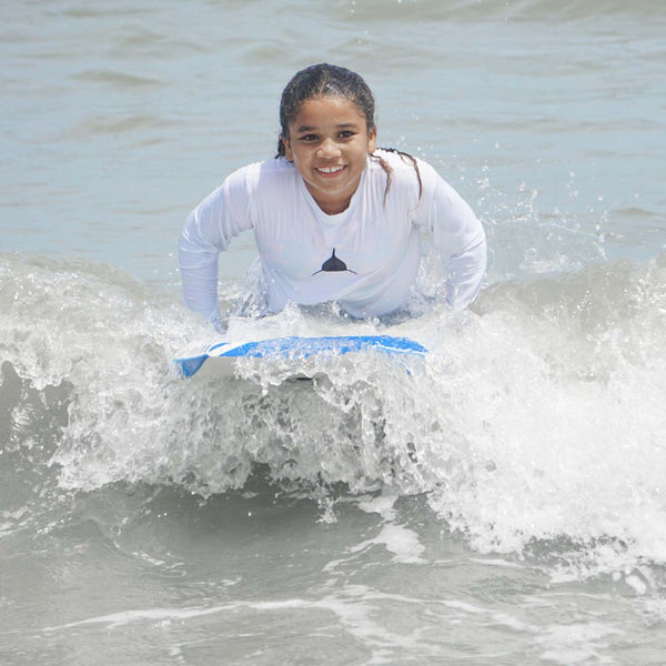 Youth Rashguard in White