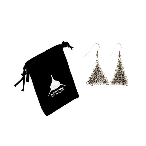 Chainmail Earrings - Triangle