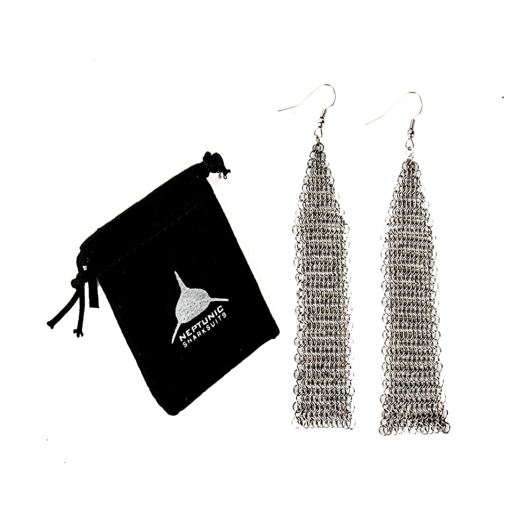 Sharksuit Chainmail Extended Triangle Earings