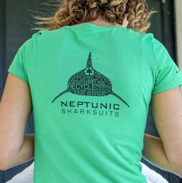 "Women's Neptunic ""Limited Edition Recycle Green"" Ocean Conservation Tee"