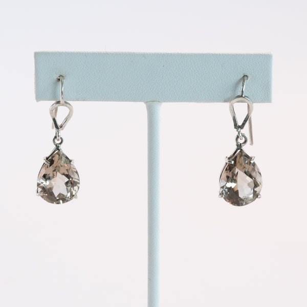 Smoky Quartz Earrings in Silver 925