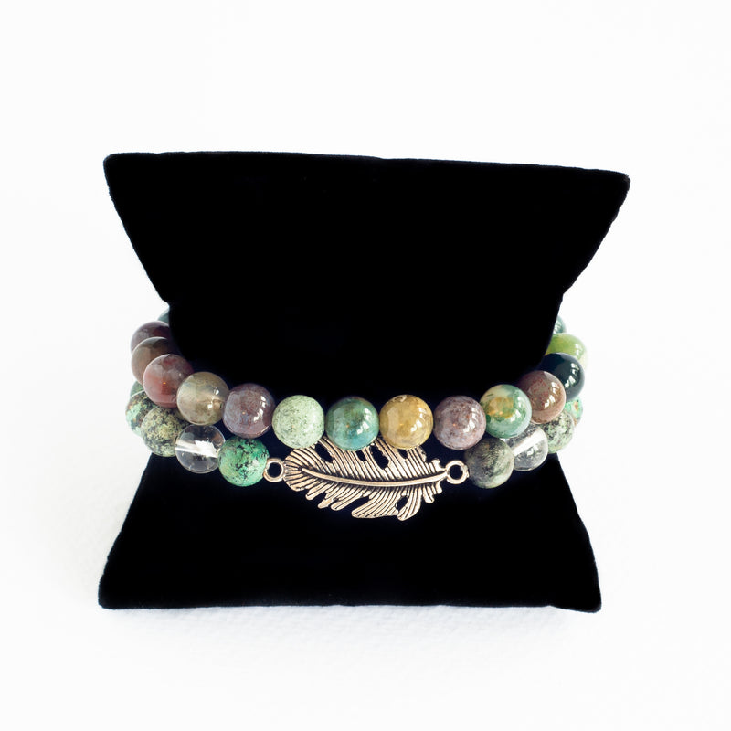 Beads Bracelet Set - Connection with Nature