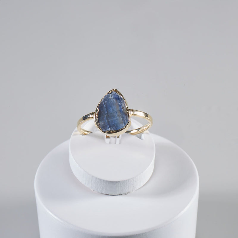 Blue Kyanite Gold Plated Ring