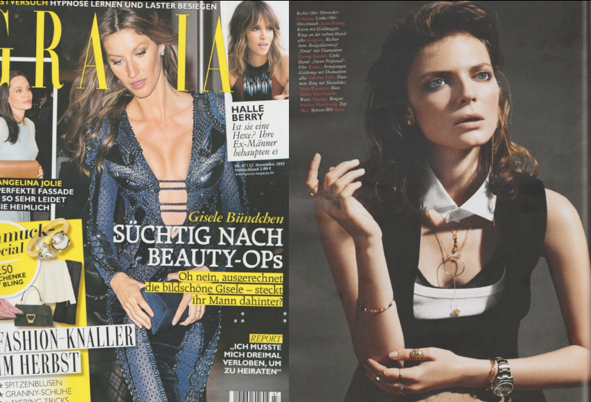 Golpira Jewelry Schmuck in the Grazia Magazine