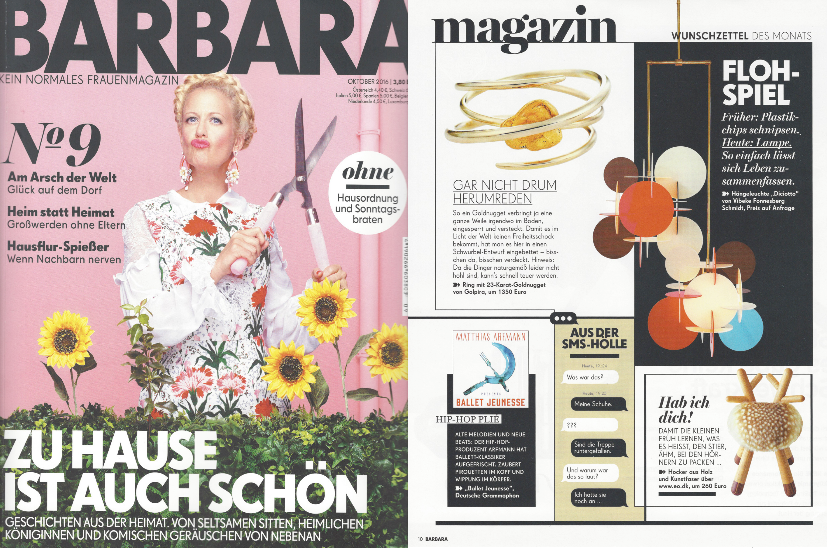 Golpira Schmuck Jewelry got featured in the BARBARA Magazine