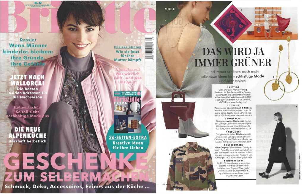 Golpira Schmuck Jewelry featured in the Brigitte Magazine
