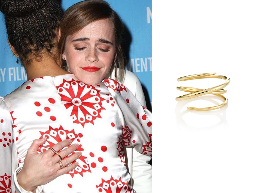 Emma Watson is wearing Golpira jewelry