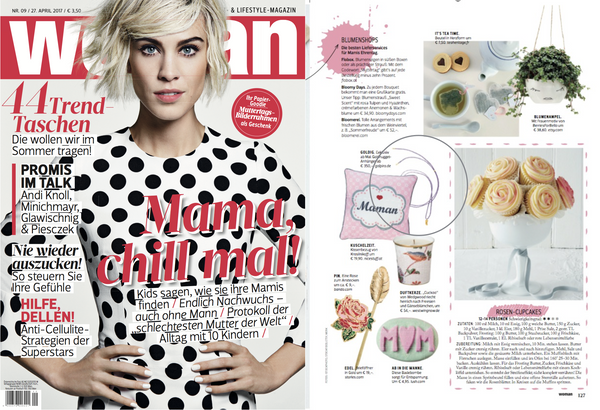 Golpira features in the latest Woman magazine