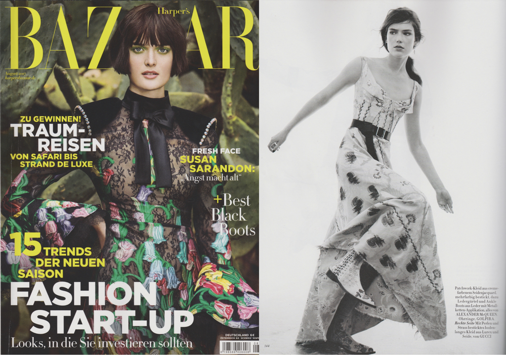 Golpira Jewelry Schmuck got featured in the latest Harper Bazaar