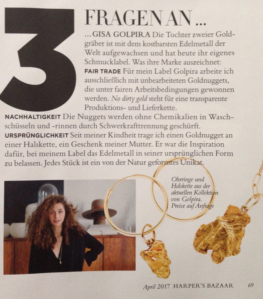 Gisa Golpira got featured in Harper's Bazaar