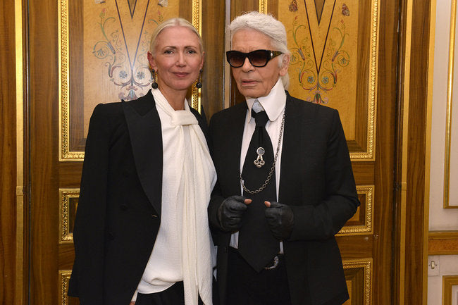 Christiane Arp and Karl Lagerfeld during the event - Golpira