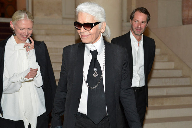 Karl Lagerfeld, Christiane Arp and Markus Kurz