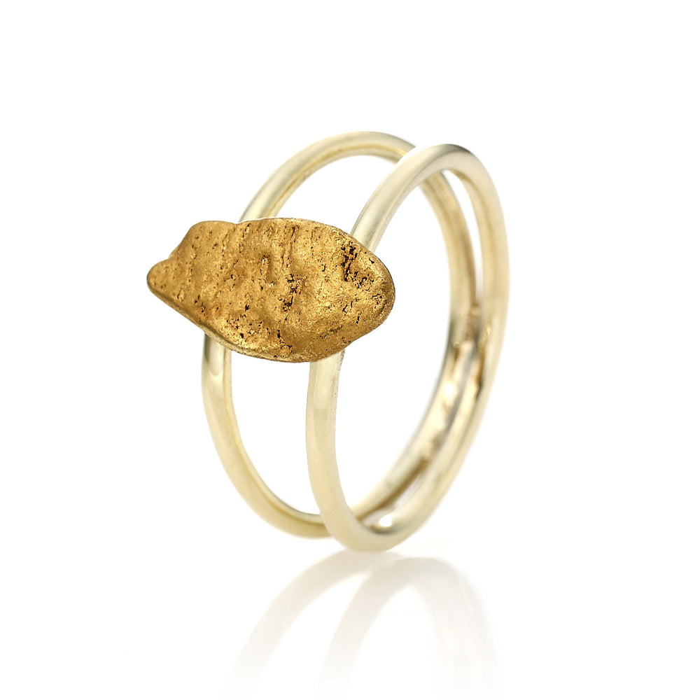Gold Nugget Ring Bridge von Golpira