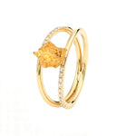 Gold Nugget Ring Bridge mit Diamanten von Golpira