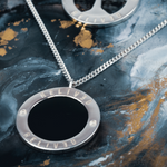 Load image into Gallery viewer, SILVER ENAMEL PENDANT
