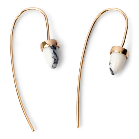 Marble threader earrings