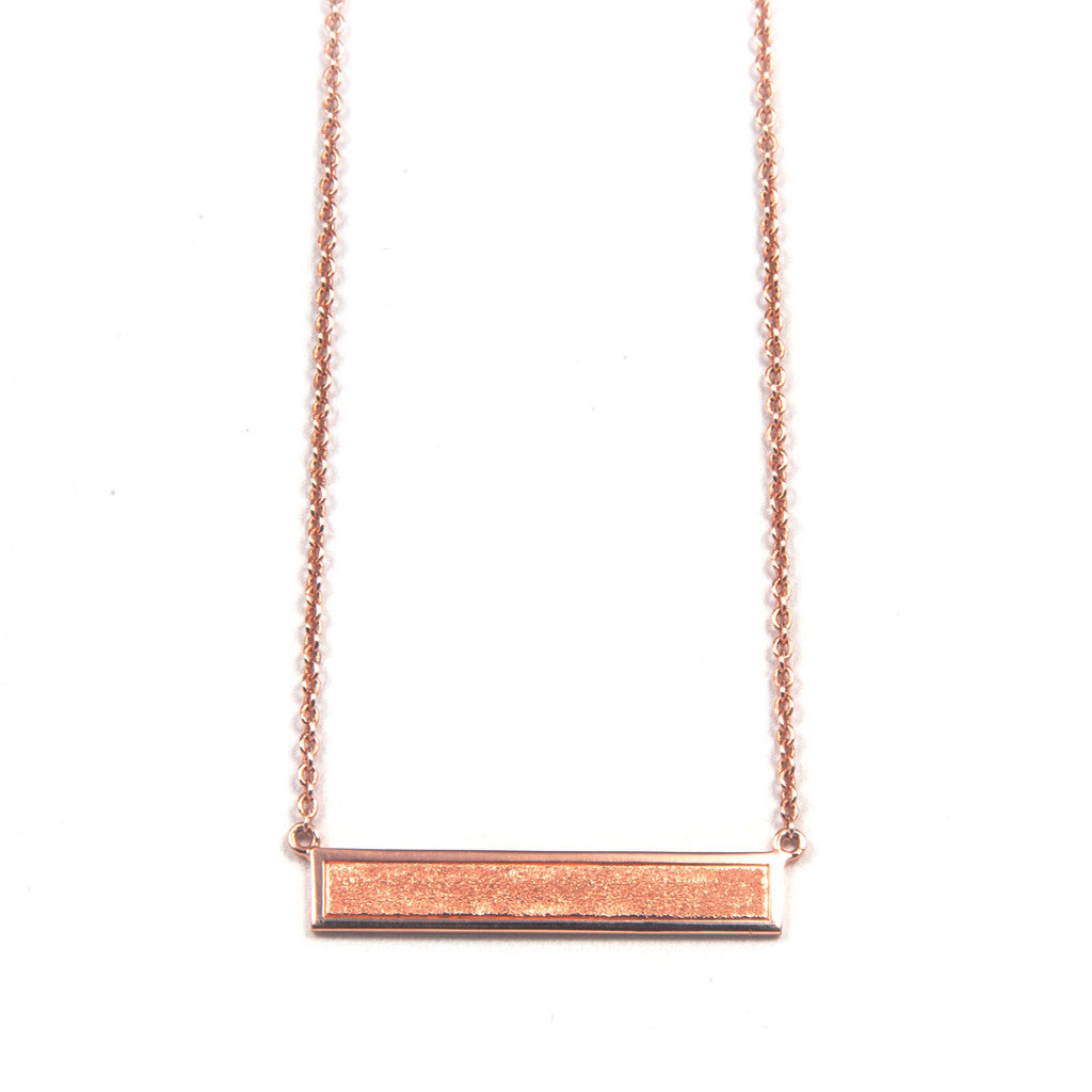Stardust necklace - rose gold