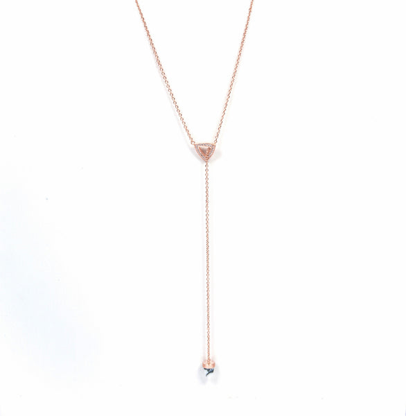 Marble lariat necklace