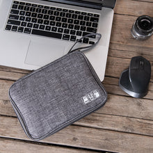 Load image into Gallery viewer, Electronic Digital Storage Bag Cationic Data Cable Storage Bag Multi-Function Flat Digital Bag